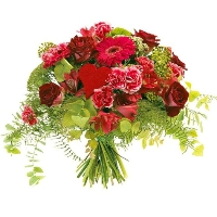 Red/pink valentine bouquet