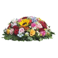 Funeral composition in various colours