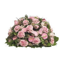 Funeral arrangement in pink