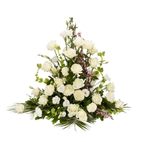 Funeral arrangement white