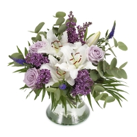 White / purple bouquet