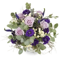 Bouquet with purple hues