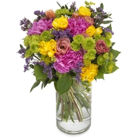Round colorful bouquet