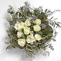 Round white bouquet
